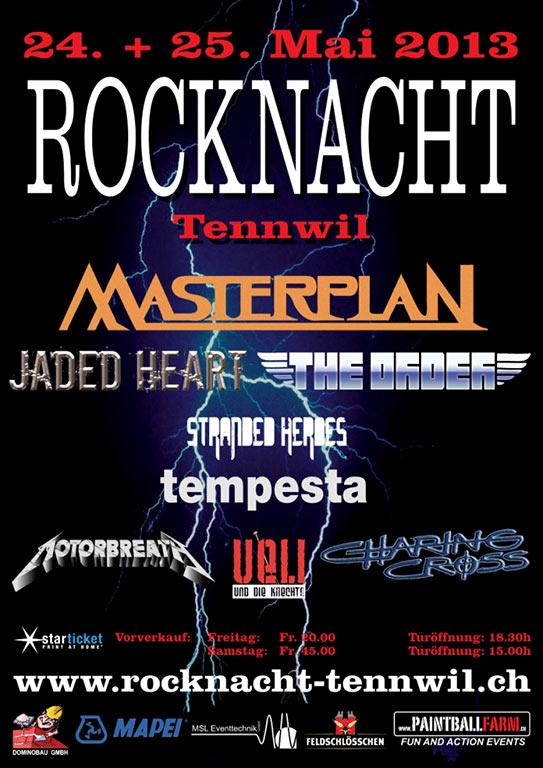 Rocknacht Plakat 2013